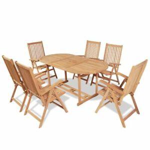 vidaXL Bois de Teck Table à Dîner Pliable de Jardin Table ...