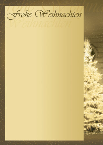 Motivpapier Briefpapier Weihnachtsbaum frohe Weihnachten 20 Blatt A4 Christbaum