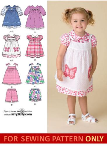 SEWING PATTERN MAKES DRESS~SUNDRESS~SHORTS~PINAFORE TODDLER~CHILD SIZE 1//2 TO 4