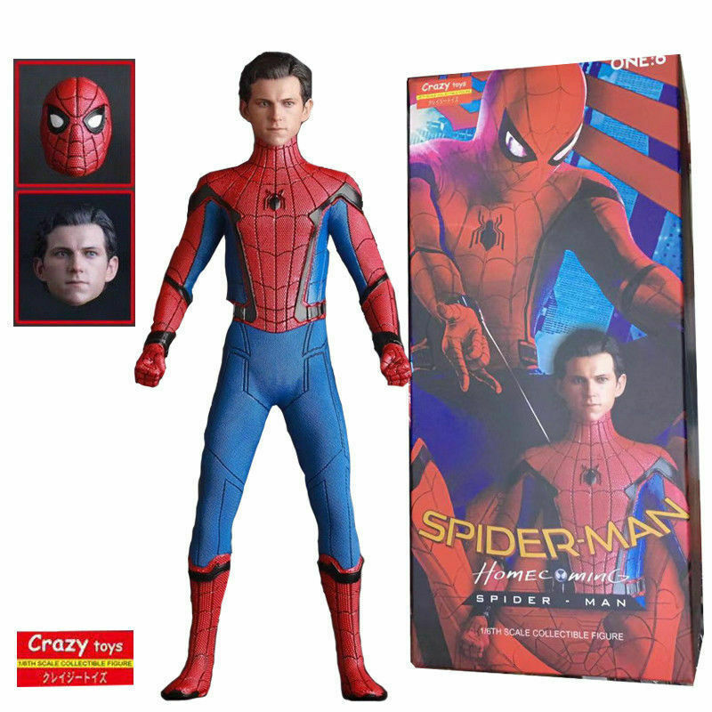 1 6TH CRAZY TOYS SPIDER MAN HOMECOMING SCALE COLLECTIBLE FIGURE MODEL STATUE TOY