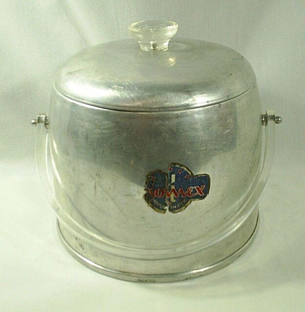 Kromex Ice Bucket Aluminum Enduringly Beautiful Mix Drinks Party Vintage