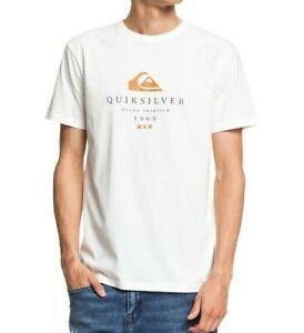 QUIKSILVER-Mens-T-Shirt-New-First-Fire-neige-en-coton-blanc-a-manches-courtes-femme-S20-1