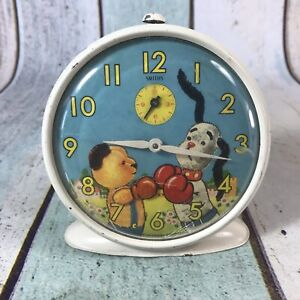 VINTAGE ALARM CLOCK SMITHS SOOTY AND SWEEP 1960's