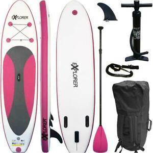 SUP-Board-Stand-Up-Paddling-Surfboard-aufblasbar-inkl-Paddel-ISUP-Paddle-300cm