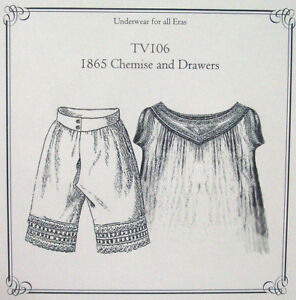 Sewing-Pattern-for-Victorian-Edwardian-Era-Drawers-Bloomers-Chemise-TV106