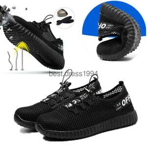 Leichte Damen Stahlkappe Herren Sicherheitsschuhe Arbeitsstiefel Mesh Sneakers Persönliche Schutzausrüstung Arbeitskleidung & -schutz