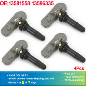 4 Pcs Car Tire Pressure Monitor Sensor Tpms 12768826 13581558 22854866 For Buick Lacrosse Regal Chevrolet Cruze Equinox Camaro Alarm Systems & Security