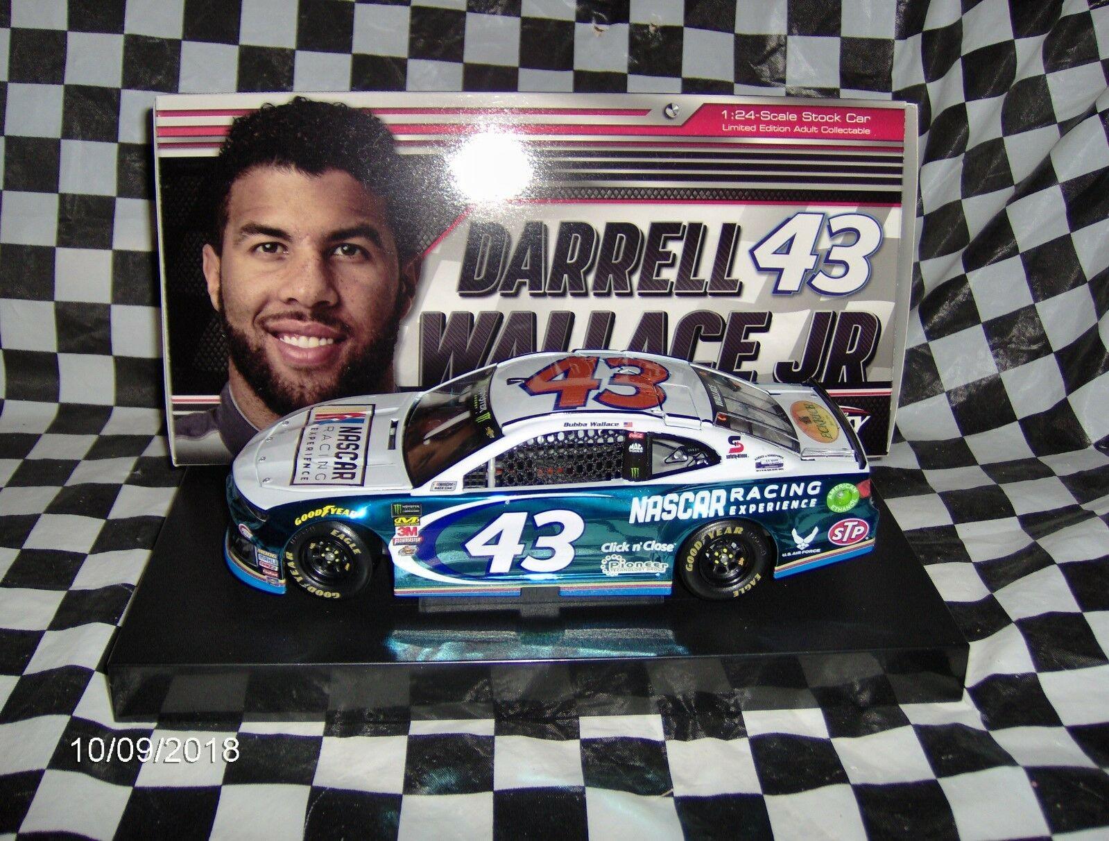 2018 Lionel Darrell (Bubba) Wallace JR  43 NASCAR RACING EXPERIENCE Couleur Chrome