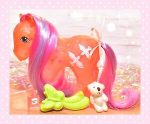 My-Little-Pony-MLP-G1-Vtg-1987-Brightglow-Bright-Glow-Glow-039-n-Show-amp-Brush