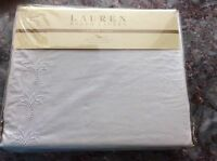In Pkg Ralph lauren Lace White King Size Bedskirt 100% Cotton Msrp $142