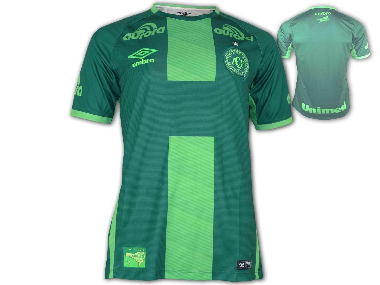 Umbro Chapecoense 3rd Jersey 17 18 Camiseta de Fútbol verde Brasil Liga Talla S