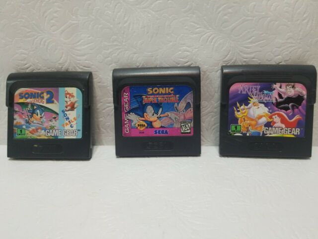 Sega Game Gear Cartridge Lot Of 3 Sonic The Hedgehog 2 Triple