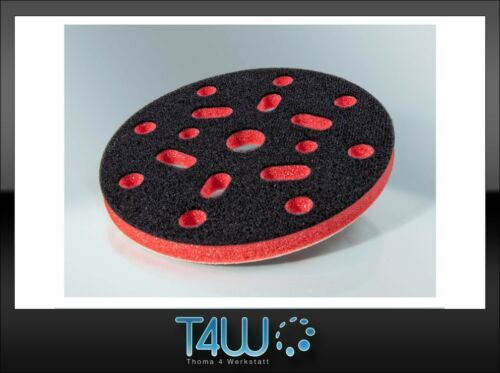 T4W Velcro Protection sanding polishing pad 150mm x 10mm / red (semi-hard)