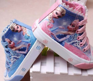 Details about Anna Elsa Tennis Cartoon Shoes Toddler Sports Boots Kids  Sneakers