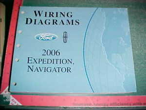 2006 FORD EXPEDITION LINCOLN NAVIGATOR WIRING DIAGRAMS ...