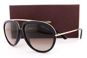 265b6e4d32981 Brand New Tom Ford Sunglasses FT 452 Stacy 02T Black Gold Brown ...