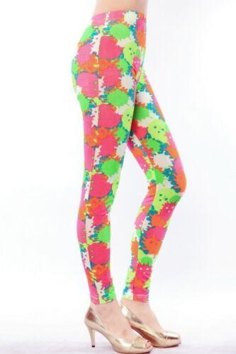 BNWT Women/'s Fashion Splashed Paint Printed Leggings SS8030