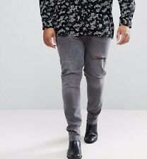 0a5d8e51c2a7c2 Brand New With Tags Mens Ex Chainstore Plus Skinny Jeans In Washed Black  W38 L36