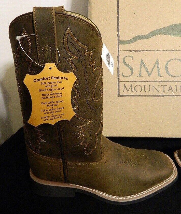 NIB Smoky Horse Mountain Crazy Horse Smoky Farbe And Pueblo Pattern Cowboy Stiefel Größe 7 1/2 7418f0