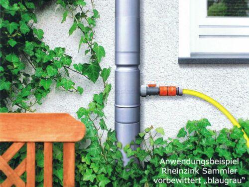 1m Schl. Rheinzink Regensammler d=87mm Regenwassersammler