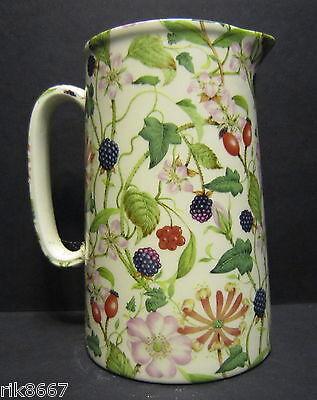 Heron Cross Pottery Hedgerow Chintz English 1 Pint Milk Jug