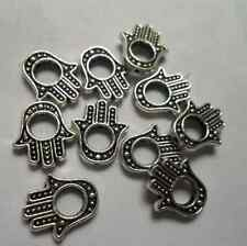 20pcs Tibetan silver hand charms spacer bead 13x14 mm
