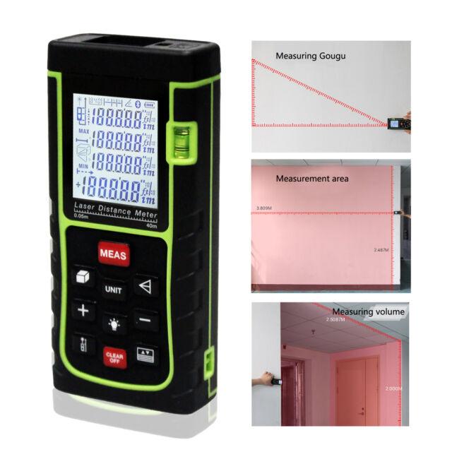 40m LCD Digital Laser Distance Meter Range Finder Measurement Diastimeter