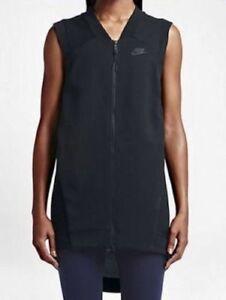 NIKE-women-039-s-Tech-Cocoon-Mesh-Fleece-Black-Vest-size-MEDIUM-retail-150