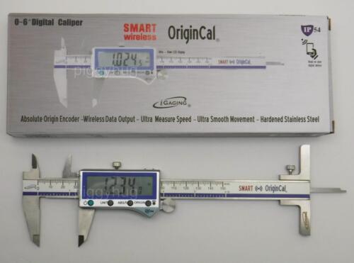 "iGaging absolute smart bluetooth 6/"" caliper X-large display optional depth gauge"