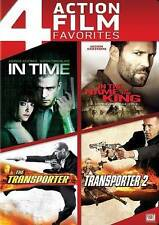 New! 4 Film DVD Set: In Time - Name of King - Transporter 1 & 2! Jason Statham