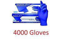 4000 Skintx Cool Blue Nitrile Exam Powder Free Gloves Medium Fda Dds Medic Tatto