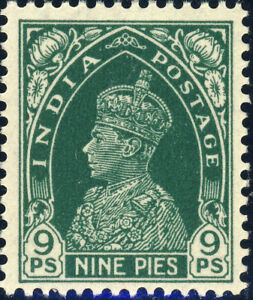 INDIA-KGV-1937-SG249-9p-Green-Unmounted-Mint