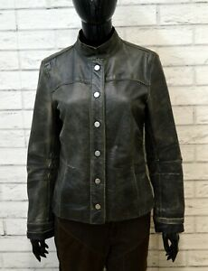 Giubbino-ICEBERG-Donna-Taglia-M-Giubbotto-Giacca-Jacket-Pelle-Woman-Coreano
