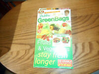 Debbie Meyer Green Bags Reusable Fruit & Vegetable Storage 5 Large & 5 Medium