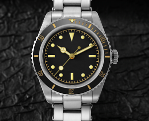 San Martin 6200 Vintage Automatic Dive Watch NH35 -Sterile Submariner- *UK Stock