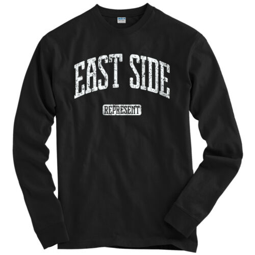 New York Chicago LA Youth Men East Side Represent Long Sleeve T-shirt LS