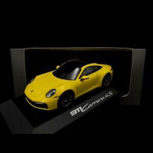Porsche 911 type 992 Carrera 4S Coupé 2019 jaune Racing 1/43 Minichamps WAP02017