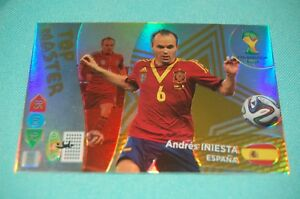 Panini-Adrenalyn-XL-WM-2014-Brasil-Andres-INIESTA-TOP-MASTER-Trading-Card
