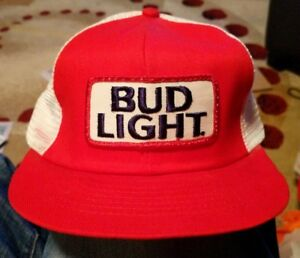 a91b6ef3 Anheuser-Busch Brewery Bud Light Beer RED & WHITE Patch Logo VINTAGE ...