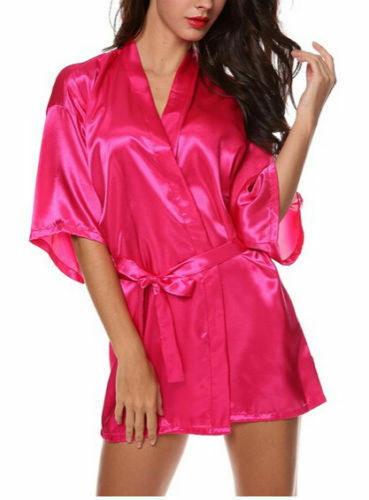 Satin Silk Personalized Wedding Robe Bridesmaid Bride Mother Gown 6-18 Dressing