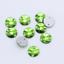 8mm Rivoli Redondo Coser Pedrería Chatons cristales de cristal de reverso plano strass 200
