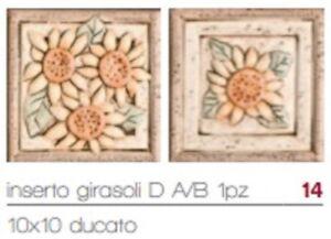 DECORI PER CUCINA NATURA 10x10 (4pz) O GIRASOLE 10X10 (4pz) O NATURA ...