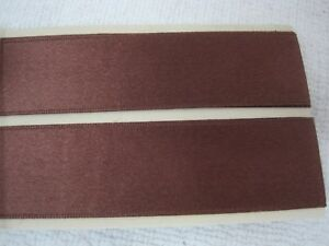 1-Yard-10-Inch-Yards-Chocolate-Brown-SILK-Satin-Double-Face-Ribbon-1-034-Wide