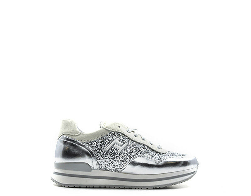 shoes EASY PEASY women Sneakers Trendy  silver Glitter,PU,Tessuto LIKE08CJ83-0