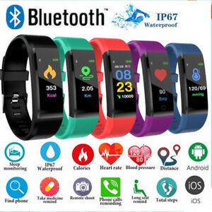Smart-Watch-Bracelet-Blood-Pressure-Fitness-Tracker-Sport-Heart-Rate-Monitor-NEW