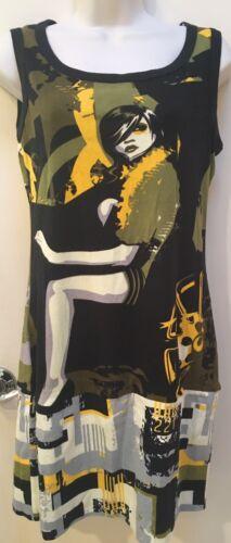 Graphic Mod Stretchy Dress Tunic  XL