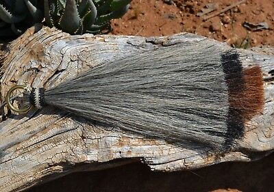 "Mane Hair Shu Fly 3 Bell Mule Tail Layered Cut 12/"" Grey//Black//Chestnut"