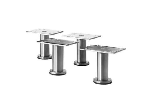 4x Small IKEA CAPITA Leg Stainless steel Kitchen Cabinet for METOD 8-9cm pup10