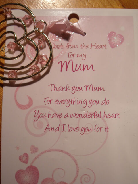 WORDS FROM THE HEART- HEART CHARMS - MUM, DAUGHTER, SISTER, FRIEND - GREAT GIFT