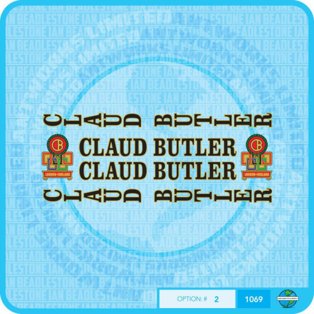 Set 6 Claud Butler Bicycle Decals Transfers Stickers